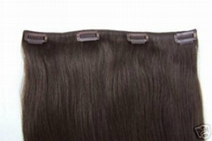 clip in hair 100g/pcs blonde colors made of 100% remy hair