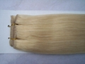 clip in hair 100g/pcs blonde colors made of 100% remy hair 5