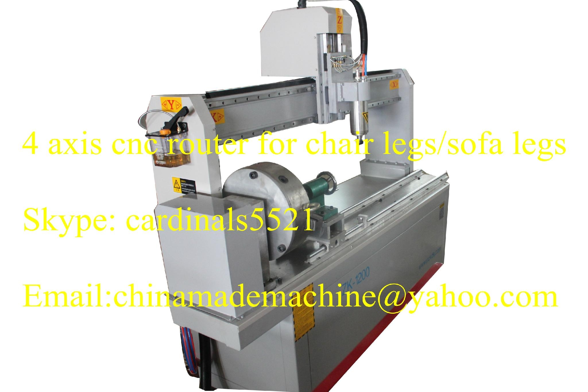 single rotary cnc router 1200 Y 1