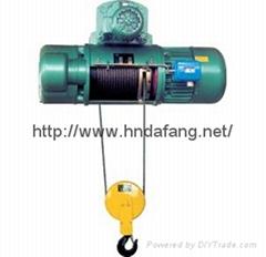 河南大方豫工牌CD1型鋼絲繩單速運行電動葫蘆0.5-20t