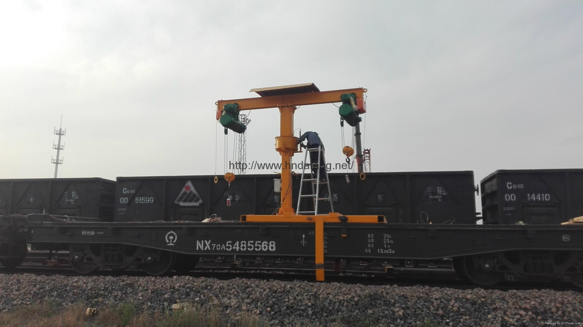 T型铁路收轨车火车维修收轨起重机 1