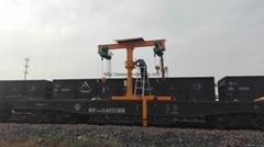 T型鐵路收軌車火車維修收軌起重機