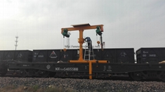 The train maintenance crane Railway closed rail crane