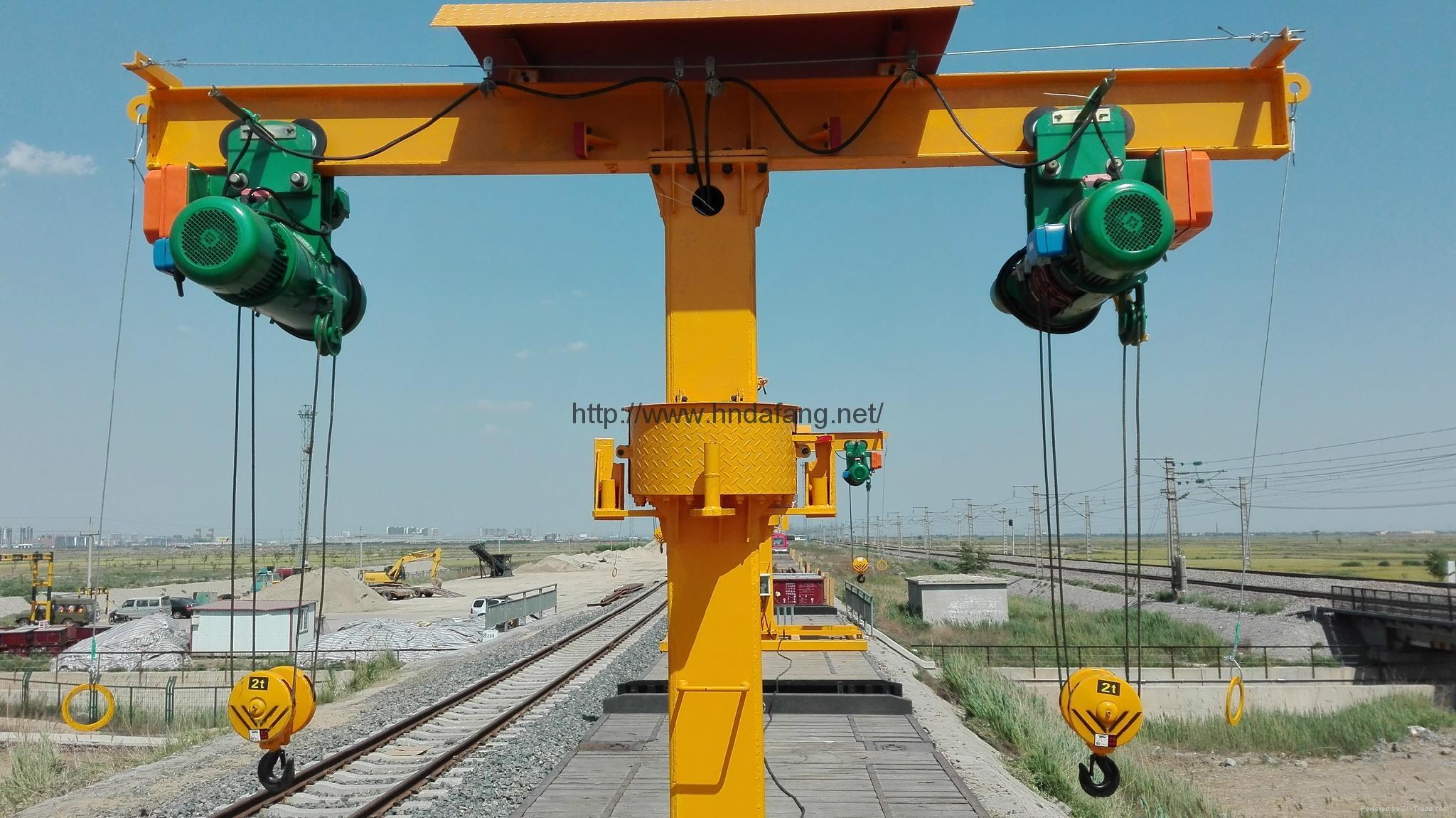 T型铁路收轨车火车维修收轨起重机 4
