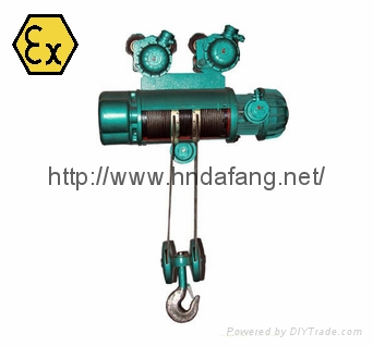 河南大方豫工牌HB防爆钢丝绳电动葫芦DIICT4及以下1-20吨 2