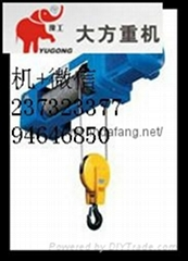 DF type European steel wire rope electric hoist