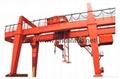 U型双梁吊钩门式起重机5-500吨