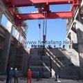 A hydropower station bridge crane