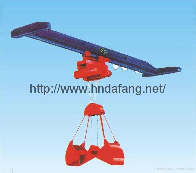 LDZ electric single beam grab crane 2