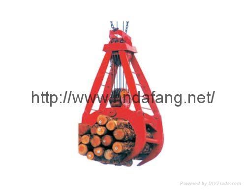 木料场专用起吊木材抓斗抓斗起重机 1