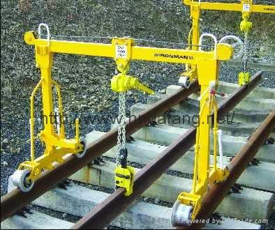 铺钢轨用起重机地铁铺轨机 1