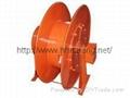 Crane power cable drum