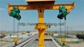 Ride the maintenance crane The train