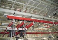 KBK flexible track suspension bridge crane