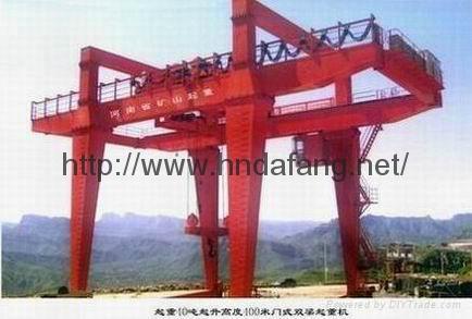 U型双梁吊钩门式起重机5-500吨 3