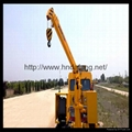 Electric hydraulic cantilever can retractable rail crane