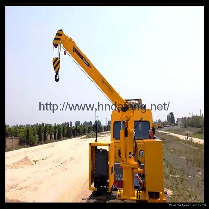 铁路收轨车悬臂可伸缩收轨吊火车专用收轨起重机 2