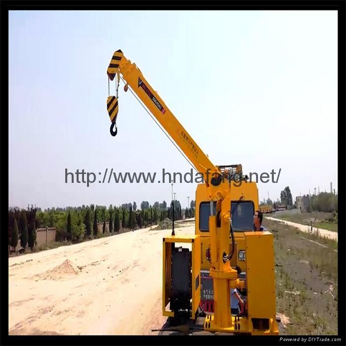 铁路收轨车悬臂可伸缩铁路收轨吊收轨起重机 2