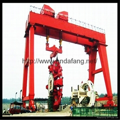 The gantry crane span can be used to control the gantry