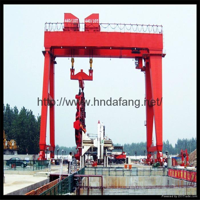 地铁口专用盾构龙门起重机跨度可调盾构龙门 2