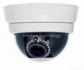 Onvif 1080P Low Lux VANDAL- proof Half Dome IR IP Camera