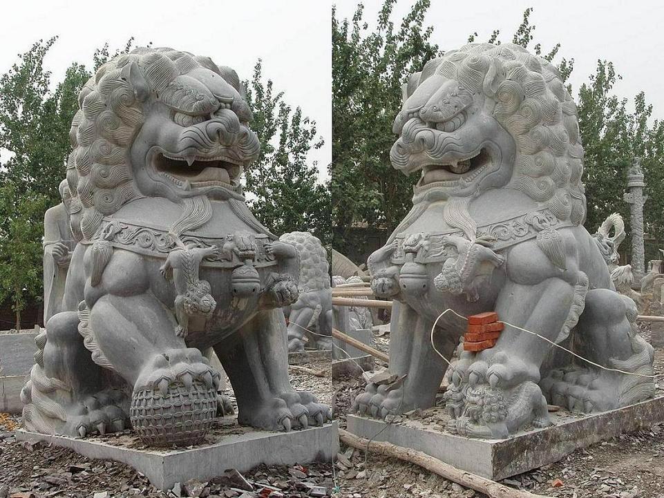石雕石狮子 4
