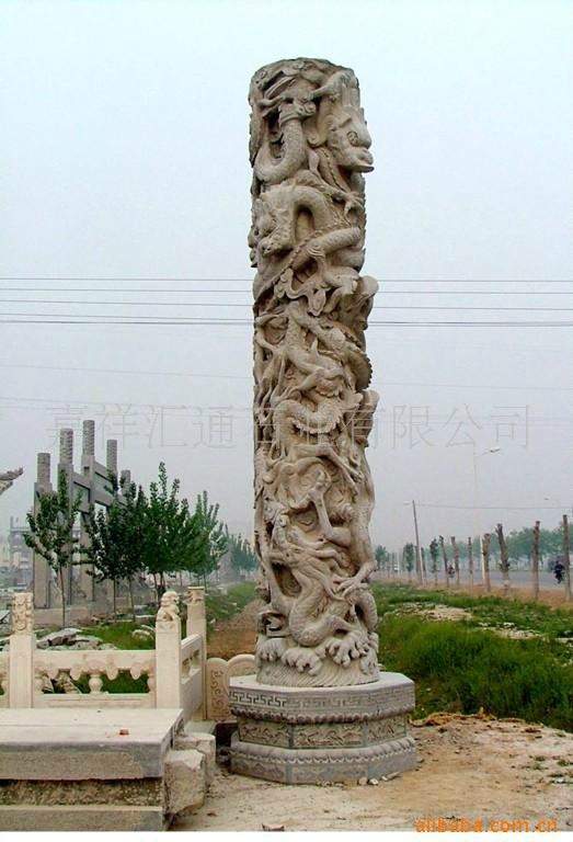 石雕龍柱子 2