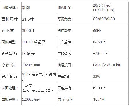 21.5寸戶外高亮LED背光液晶屏幕 5