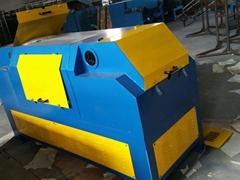 焊絲生產盤圓專用無酸洗砂帶除鏽機SD-55