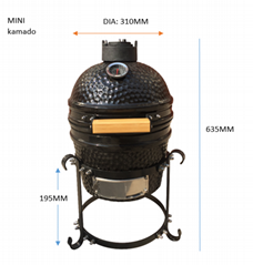 MINI kamado barbecue grill outdoor cooking