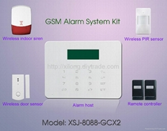 GSM PSTN Intruder Alarm System LCD Display 3/4 bands 433M/868MHz