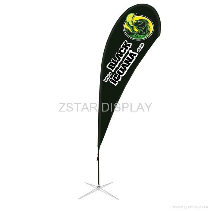 Single side teardrop flag