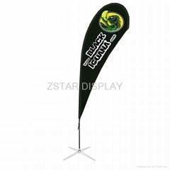 Single side teardrop flag