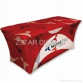 Spandex polyester table cover    Stretch table cloth 2