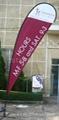 Custom teardrop banner