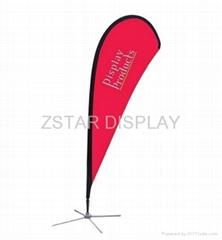 Tradeshow bow flag  Exhibition flag banner  CIF Bowhead banner