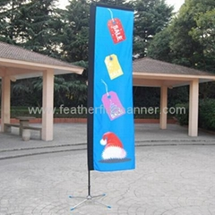 Block flying banner    Square flags      Promo Flag banner supplier
