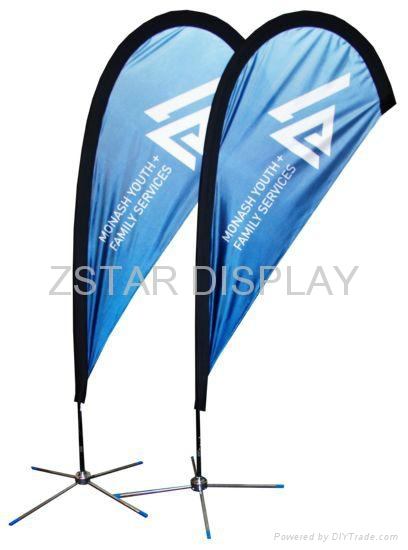 New Zealand teardrop flag