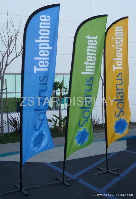 Custom logo  feather flags 1