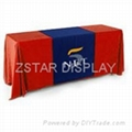 Corporate logo table cover    Corporate brand table cloth