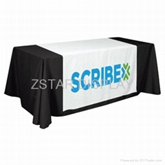 Printed text table cloth