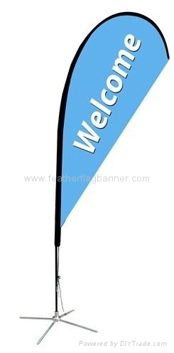 New teardrop flags