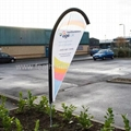 Promotional bow flags   Portable bow flag