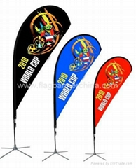 Dye sublimation beach banners