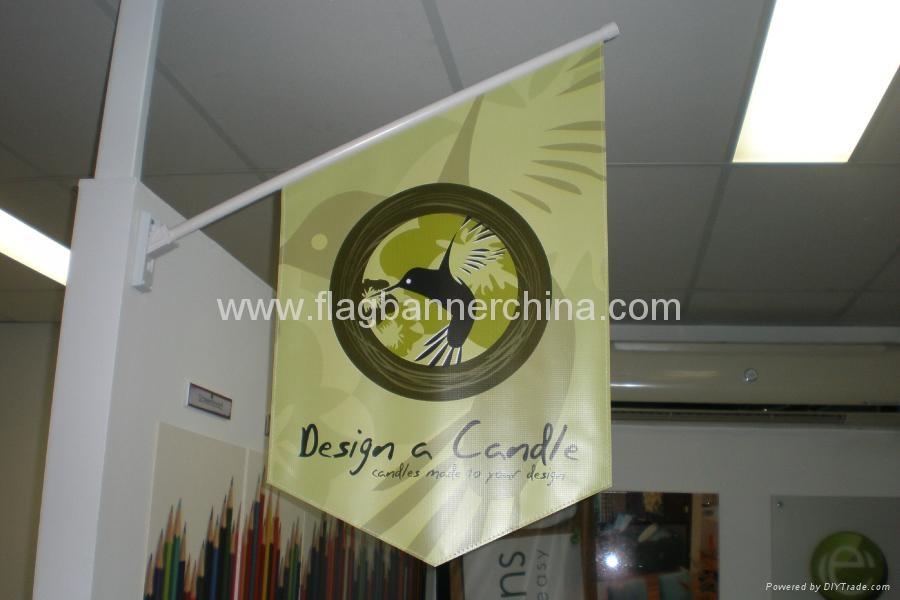 Advertising wall flag