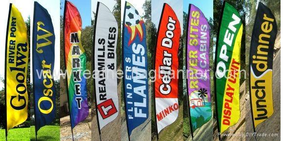 Advertising Flutter Flags     Promo flutter flag 2