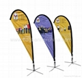 Advertising teardrop flags