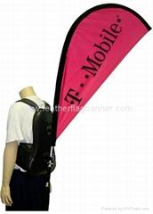 Custom backpack flags