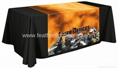Branded fabric table cover    custom desk cover