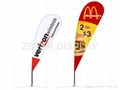 Advertising flag banner     Teardrop